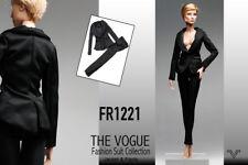 FR1221 The Vogue Black  Formal Office Suit Set for Barbie Fashion Royalty FR2