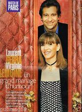 Coupure de Presse Clipping 1996 (3 pages) Laurent Gerra et Virginie Lemoine