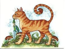 Amy Brown Print Note Card Look What the Cat Dragged In Fairy Faery Garden