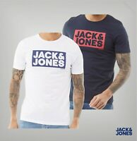 Mens Jack And Jones Printed Logo Short Sleeve Ribbed T Shirt Sizes from S to XXL