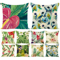 Flower Green Plants Square Throw Pillow Case Cushion Cover Sofa Bed Decor Candy