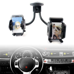 Dual Twin In Car Mobile Phone Holder Windscreen Suction 360 Universal Mount UK