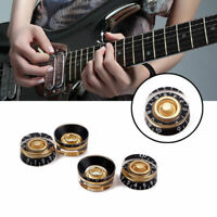 4x Guitar Tone Speed Volume Control Knob For Gibson Les Paul Electric Guitar