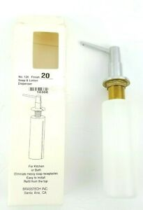 Brasstech Soap or Lotion Dispenser for Kitchen or Bath, Stainless Steel Finish