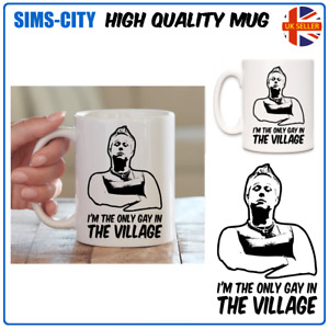 IM THE ONLY GAY IN THE VILLAGE LGBGT LITTLE COFFEE TEA MUG CUP BRITAIN MG103