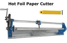 Hot Stamping Foil Paper Cutter Hand Cutting Machine Paper Roll Slitter