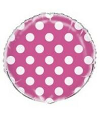 "18"" Polka-dot Foil Helium Balloons Pink Blue Red Black Lime Green"