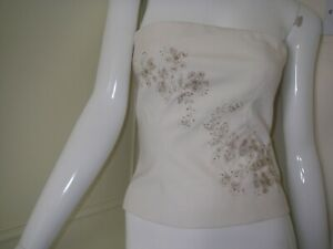 Warehouse  cream  Basque/Bustier Bridal Lingerie Size UK 8 DECORATED FRONT