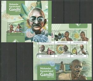 BC1192 2012 MOZAMBIQUE GREAT HUMANISTS TRIBUTE TO MAHATMA GANDHI KB+BL MNH