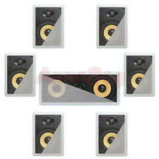 7.1  In-Wall In-Celing Speaker System Kevlar Speakers Power Peak 2100 Watts