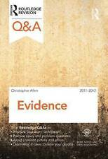 Q&A Evidence 2011-2012 (Questions and Answers) by Singh, Charanjit, Landa, Char