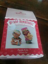 Hallmark Merry Miniatures Penda Kids 2 piece Set 1995