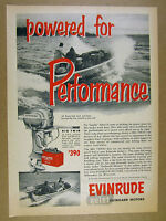 1953 Evinrude Big Twin Outboard Motor bryant work boat photo vintage print Ad