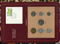 Coin Sets of All Nations Antigua E.C. 1965 - 1983 UNC 50 cents 1965 w/card