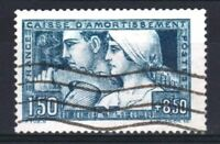 "FRANCE STAMP TIMBRE N° 252 "" C.A. LE TRAVAIL 1F50+8F50 BLEU "" OBLITERE TB  R864"