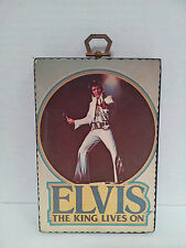 Vintage wooden frame  Elvis the King Lives On