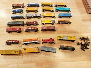 Lot of N scale train cars by Bachmann Atlas & others