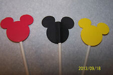 24 DISNEY MICKEY MOUSE CUPCAKE TOPPERS
