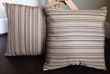 "New Set Of 2 Outdoor Accent Pillow Sunbrella Birch UV-Protected 16""x16"" Подушки"