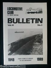 LCGB - LOCOMOTIVE CLUB OF GREAT BRITAIN BULLETIN - MARCH 1 1989