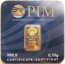 GOLDBARREN - Z.B.: HERAEUS / DEGUSSA / UMICORE / PIM GOLD - WIE GOLDMÜNZE
