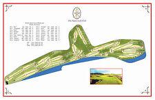 The Nairn Golf Club 1887- Morris/Braid/Simpson - a Vintage Golf Course Map