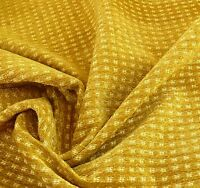 "10Y LEE JOFA GLENHURST CHENILLE ""GILT"" GOLD CHARTREUSE DOTTED FRANCE MSRP$276/Y"