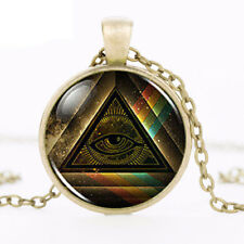 Steampunk Masonic Pendant Necklace Illuminati Pyramid Rainbow Jewish Jewelry