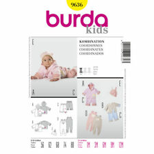 Burda Easy SEWING PATTERN 9636 Baby Jacket,Trousers Or Romper & Hat