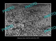 OLD LARGE HISTORIC PHOTO DAMASCUS SYRIA AERIAL VIEW OF THE CITY c1919 1