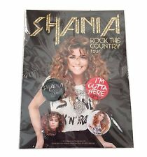 Shania Twain Rock This Country Outta Here Pin Button Can Cooler Gift Set New