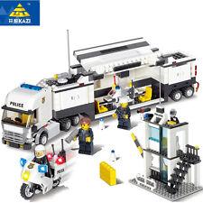 KAZI 511PCS Professional Building Blocks Police Station Toys Blocks Baby Gift