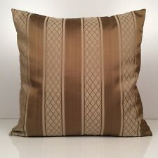 Light and Dark Tan Striped Throw Pillow Cover Decorative Pillow Cover