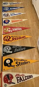 10 Vintage Super Bowl Champions NFL Football Pennant 30""