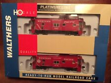 WALTHERS 932-240458 PLATINUM LINE BAY WINDOW CABOOSE 2-PK WESTERN PACIFIC WP