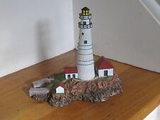 """The Danbury Mint Sculpcured Lighthouse 'Boston Light' 1992 6"""" Tall Excellent"""