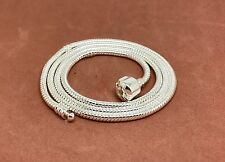 New 925 Silver Chain Necklace fit European Beads Charms Pedant Jewelry US Seller