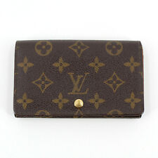 Authentic Louis Vuitton Vintage Monogram Purse Wallet in Brown Made in France