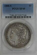 1888-S   $1   PCGS   XF 45  Morgan Silver Dollar, Miss Liberty Head