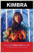 KIMBRA Primal Heart 2018 Ltd Ed New RARE Poster +FREE Indie Pop Dance Poster!