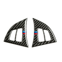 Car Fitting Carbon Fiber Steering Wheel Button Trims Stickers For BMW X5 E70