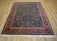 "Genuine Turkish Handmade Hereke Rug Highly Collectible - 7 Hills - 6' 8""x 9' 5"""