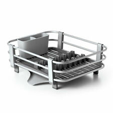 Oxo Good Grips Aluminum Kitchen Sink Dish Rack Drying Tray, Gray (Used)