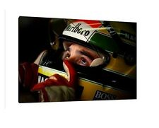 Ayrton Senna LARGE 30x20 Inch Canvas  Framed Picture F1 Formula One