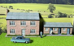 """Low relief farm building and pigsty,""""00"""" model railway building, diorama."""