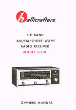 Hallicrafters S-210 S210 Receiver Owners Manual With Foldout Pages