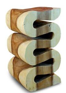 Beistelltisch Holz Massivholz Wohnzimmer Tisch Holztisch Podest Nachttisch Suar