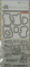 Hampton Art ~ Mama Elephant ~STAMP and DIE/Sentiment Set ~ PUPPY PLAY ~ NEW