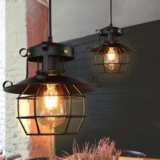 Hollow Chandelier Metal Fishermans Cage Ceiling Light Pendant Vintage Lamp