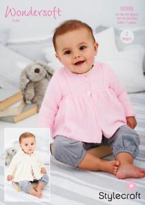 Stylecraft Wondersoft 4 Ply 9388 Knitting Pattern Matinee Coats Baby - 7 Years